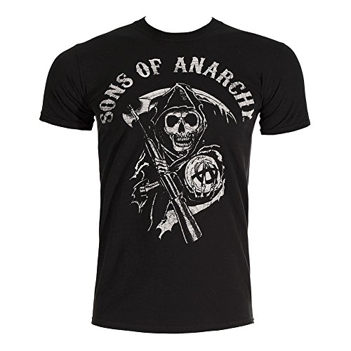 Sons Of Anarchy Main Logo T Shirt (Noir) - Large