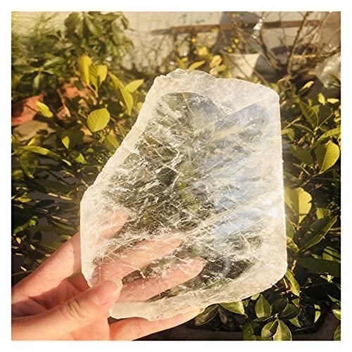 HONGYMY Cristales curativos Espécimen de Gitano Transparente Blanco Transparente (Size : 200 260g)
