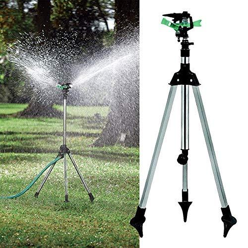 Ganeep Treppiede Impulse Sprinkler Pulsating Telescopic Watering Prato cantiere e giardino