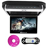 "Best Flip Down Dvd Players - Rockville RVD10HD-BK 10.1"" Flip Down Monitor DVD Player Review"