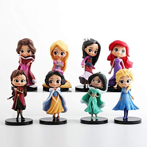 CYSJ Princesa Cake Topper 8Pcs Anime Decoración de Tartas Figuras Decoración para Tarta de cumpleaños de Figuras de Dibujos Animados del Fiesta Suministros