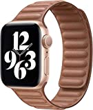 Fengyiyuda Compatibile per Apple Watch Cinturino 38mm 40mm 42mm 44mm,Regolabile Cinturino a maglie in pelle di con Forte Chiusura Magnetica Compatibile per iWatch Series SE/6/5/4/3/2/1(42/44mm)