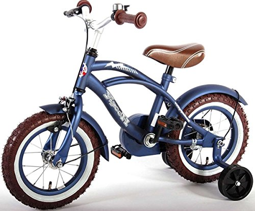 14 Zoll Fahrrad Qualitäts Kinderfahrrad mit Stützräder bike Blue Cruiser matt Blau 51401 - 2