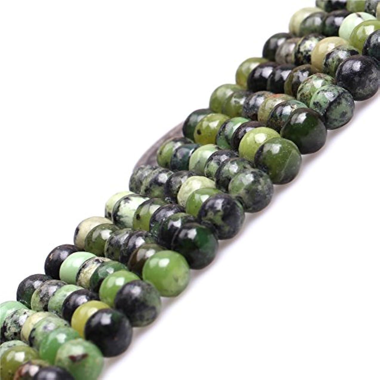 JOE FOREMAN 6mm Green Grass Turquoise Semi Precious Gemstone Round Loose Beads for Jewelry Making DIY Handmade Craft Supplies 15