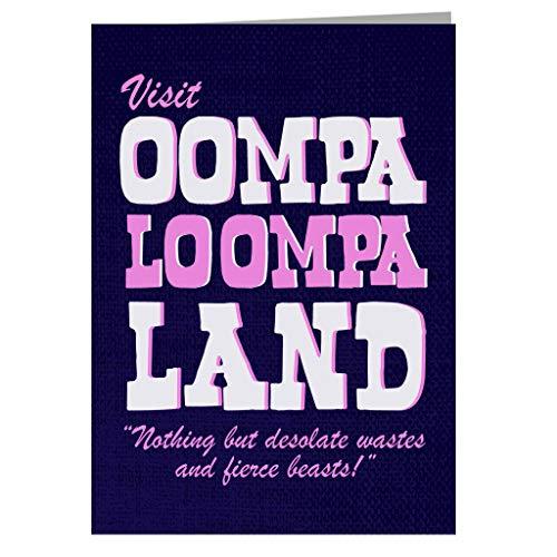 Charlie en de chocoladefabriek Oompa Loompa Land wenskaart