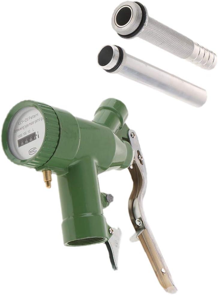 FLAMEER LLY-25 Dispensador de Boquilla de Aceite Diesel de Gasolina de Combustible Manual + Medidor de Flujo Digital