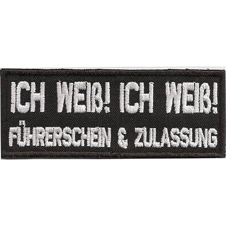A Watschn Konnst Hobn Bayern Ohrfeige Biker Heavy Metal Aufnäher Patch Abzeichen Auto