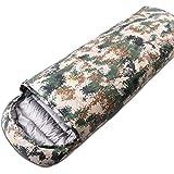 JTYX Schlafsäcke Erwachsene Wasserdichte Nylon Gewebe Camouflage Vier Jahreszeiten Universal Schlafsack,Color1,210X80CM