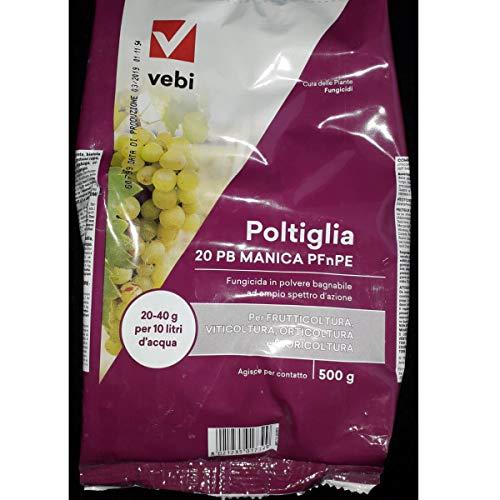 VEBI Poltiglia Bordolese 20 PB Manica Solfato di Rame PFNPE Libera Vendita 500 g