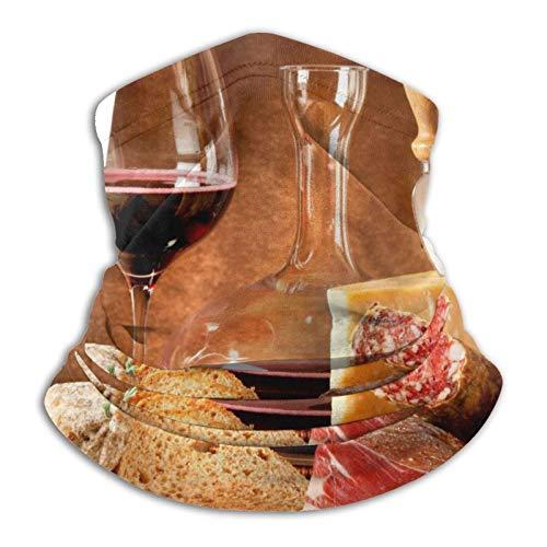 BXYJSHL Calentador de cuello para comida y bebida, antipolvo, viento, cuello solar, bufanda, bandana