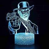 Pistolet Shooter 7 Couleurs Change LED 3D Illusion Visuelle Night Light Table Décoration Lumière Garçon et fille cadeau de vacances d'anniversaire