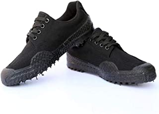 JBHURF Liberation Shoes Low Shoes Men and Women Work Military Training Shoes Training Shoes Camouflage Canvas Yellow Ball Shoes can be Used as a Field Labor Insurance and Other Outdoor Activities