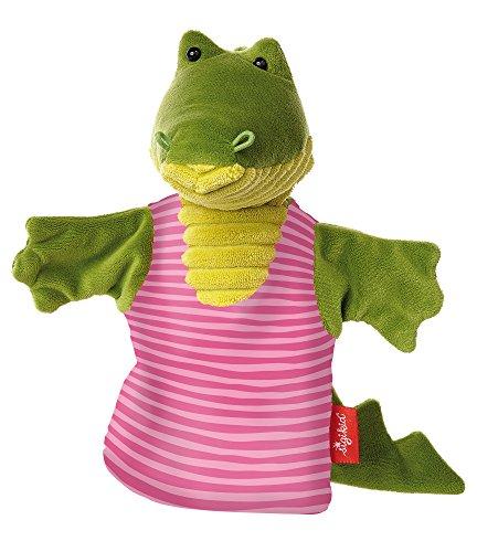 sigikid, 41330 - Enfant Unisexe - Marionnette à main Crocodile - 26 cm - Vert/Rose