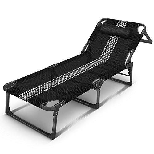 Lazy Sofa LI Jing Shop - Renforcé Tube Plat Individuel Lit Pliant Bureau Sieste Adulte Ménage Chaise Longue (Couleur : #-001)