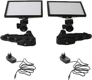 Photo Studio Accessories - 2x Viltrox L116T Video Studio LED Camera Light LCD Bi-Color Dimmable + 2x Folding Handheld Trip...