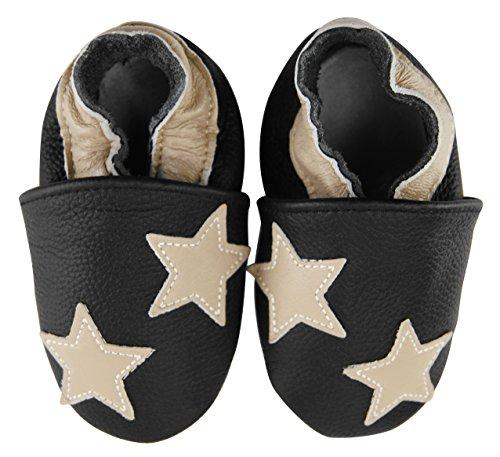 axy bébé Chaussons Chaussures en Cuir Chaussures bébé Enfant Jardin Chaussures – étoiles - Multicolore - Mehrfarbig,