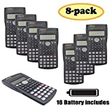 RENUS 8 Packs, 2-Line Engineering Scientific Calculator Function Calculator for...