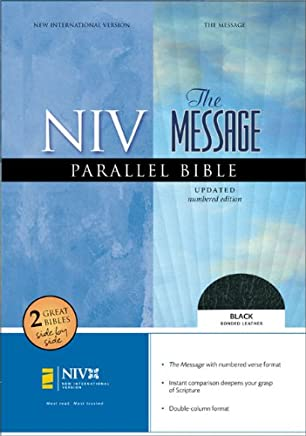 Holy Bible: New International Version, Black Bonded Leather the Message Parallel Bible