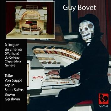Guy Bovet à l'orgue de cinéma (Wurlitzer) du collège Claparède à Genève