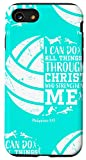 iPhone SE (2020) / 7 / 8 Volleyball Phone Cases Christian Verse Gifts Cute Teen Girls Case