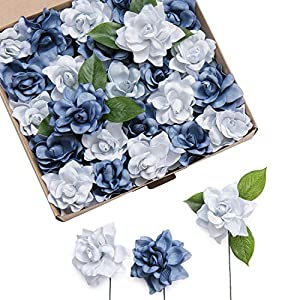 Ling's moment Artificial Gardenia Flowers w/Stem for DIY Wedding Bouquets Centerpieces Arrangements Party Baby Shower Home Decorations