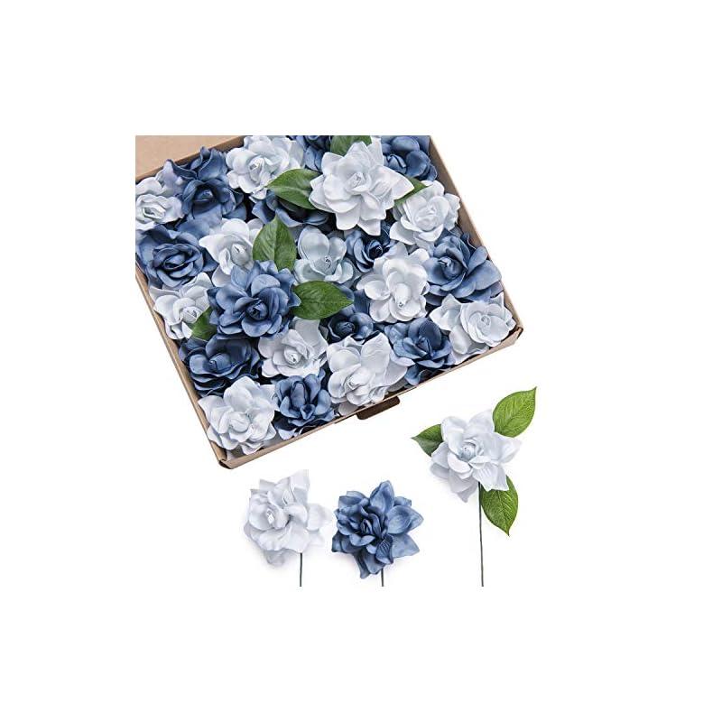 silk flower arrangements ling's moment artificial gardenia flowers w/stem for diy wedding bouquets centerpieces arrangements party baby shower home decorations
