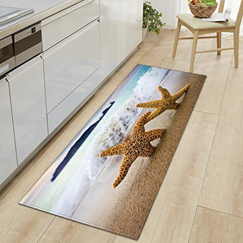 DREAMING-Beach Kitchen Sofa Wardrobe Shoe Cabinet Floor Mat Bathroom Non-Slip Floor Step Mat Door Mat, Household Carpet 40 * 60cm