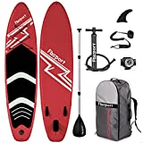 FBSPORT Premium Inflatable Stand Up Paddle Board (6 inches Thick) with SUP Accessories & Carry Bag   Wide Stance, Surf Control, Non-Slip Deck, Leash, Paddle and Pump, Standing Boat for Youth & Adult