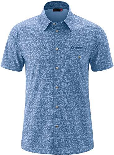 Maier Sports Lorcan Chemise Manches Courtes Homme, Blue Allover Modèle DE 48 2020 T-Shirt Manches Courtes
