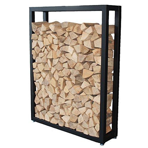 HARK Holzregal groß 110 x 140 x 28 cm mit Stellfüßen schwarz