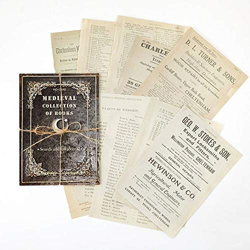 Papeles de material retro, pegatinas estéticas de gran tamaño, papelería, diario, papel de fondo de bricolaje(A)