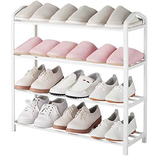 Shoe rack Étagère à Chaussures 4 Niveaux Étagère de Rangement imperméable Grande capacité Capacité portante Plus Forte Montage Pratique Organisateur Taille (cm): 62 (L) * 19,4 (L) * 62 (H)