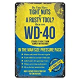 ZYPENG Room Man Cave Art Decorations Metal Sign Wall Decor Tin Signs Do You Have Tight Nuts Or A Rusty Tool? Vintage Garage 8 x 12 inches