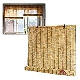 L-DREAM Persianas Enrollable Bambú Exterior, Ventanas Y Puertas Estores Enrollables, Sombreado, Privacidad, Persiana Romana Interior Balcón Cortina De Bambu, 120x200cm