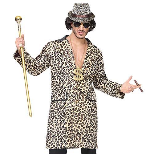 Amakando Disfraz Macarro proxeneta para Hombre/En Talla M/L (ES 50/52) / Disfraz para Carnaval Playboy sugardaddy/El Punto rememorable para Noches temticas y carnavales