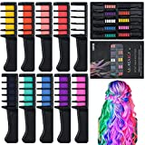 Tizas para el pelo, 10 Colores Tiza de Pelo Temporal Peine de tinte para el...