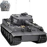 HOOBEN NEU Montierter RTR 1:10 Tiger Late Production Wittmann Superschwerer Panzer Metallfahrgestell, Metallgetriebe Mit IR Battle Smoke Sound