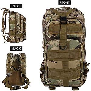 51jBxFMCnfL. SS300  - G&X Mochila táctica, Mochila Militar de 25 litros, Mochila Militar MOLLE, Mochila táctica de Combate, para Senderismo, Camping, Senderismo, Pesca, Caza