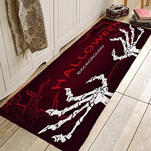 Alfraza para exteriores al aire libre Happy Halloween del golpeteo de cocina Alfombras alfombra Felpudo antideslizante absorbente piso alfombra for baño manta de área de Pasillo A prueba de la intempe