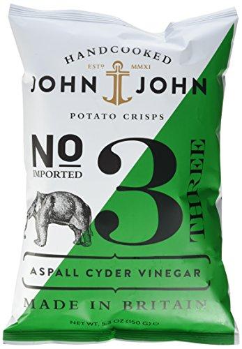 John & John Potato Crisps Aspall Cyder Vinegar 150g (1 x 150 g)