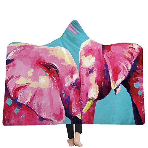 SKLLA Die Decke der Decke der Kinderdecke Doppel-Plüsch 3D Hand gezeichnet Tiermuster,1,150cm*200cm