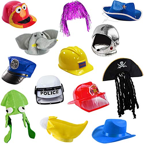 6 Assorted Dress Up Costume & Party Hats by Funny Party Hats (6 Child Costume Hats)