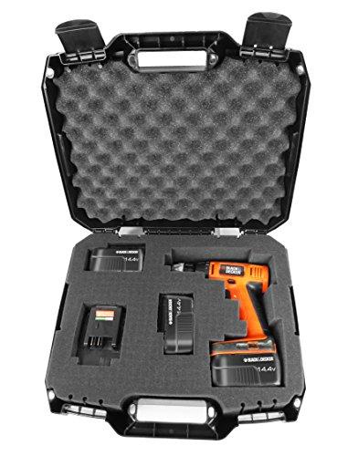 Casematix Drill Case Compatible with Black and Decker Cordless Drills or Drivers Model Ldx120 20 Volt, Ld120va, Bdcd120va, Bdcdmt120, Bdcdd220c and Accessories
