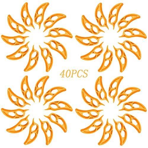 40 pezzi di pelapatate per arancia leggera e portatile, in plastica, per rimuovere la pelle dagli agrumi e accessori da cucina