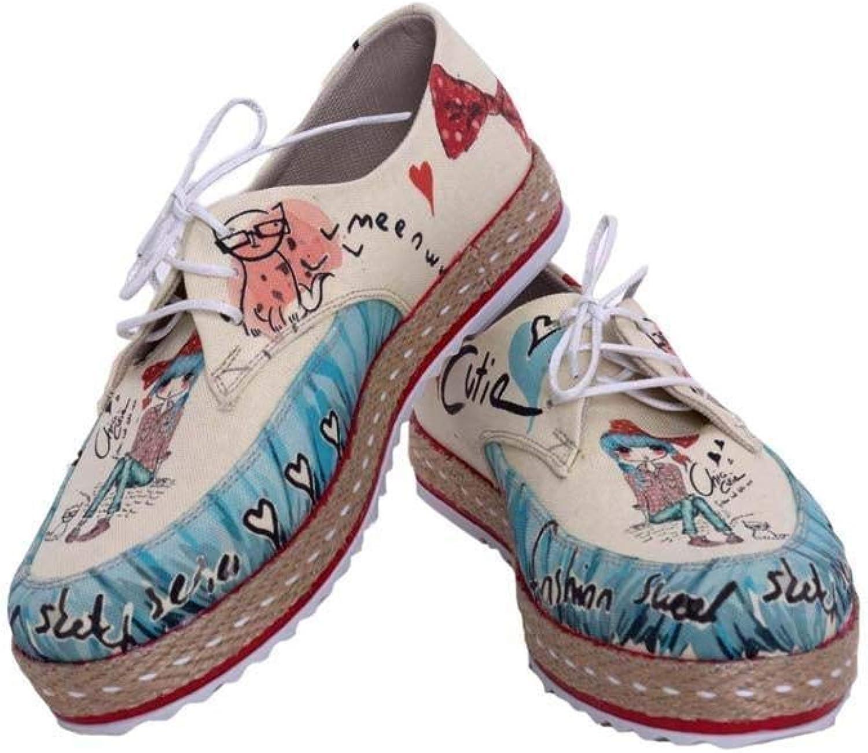 GOBY Women's shoes 'Girl & Cat Slip-On Espadrille'   Memory Foam HSB1682