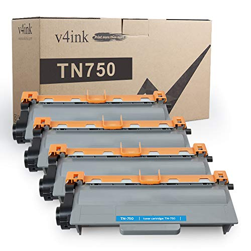 V4INK 4 Compatible Toner Cartridge Replacement for Brother TN750 TN720 High Yield Toner Cartridge Set for Brother hl-5470dw hl-5470dwt mfc-8710dw mfc-8950dw mfc-8910dw dcp-8110dn dcp-8150dn Printer