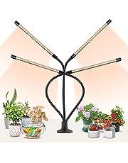 DAKASON LED植物育成ライト フルスペクトル植物灯 育苗器 USB給電 クリップ式 4つへッド 調光記憶機能 タイマー設定(3/6/12H) 日照不足解消 ガーデニング 園芸用品 多肉観葉植物 水耕栽培 水槽用