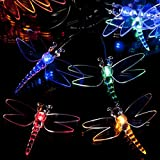 SPV Lights - Guirnalda de Luces solares con Forma de libélula (100 ledes)