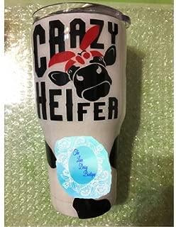 Crazy Heifer Stainless Steel Glitter Tumbler