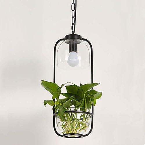 YBCD Plafonnier créatif Plafond Lustre rétro LED Style Lustre Art décoratif plafonnier-noir